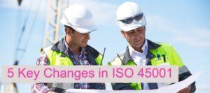 ISO 45001 vs OHSAS18001 comparison